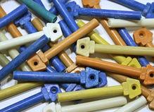 Foto delle chiavi di plastica interfoniche Fotografia Stock Libera da Diritti