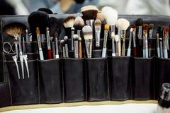 Foto delle spazzole di trucco Immagine Stock Libera da Diritti