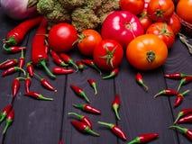 Foto delle verdure appetitose fresche Nutrizione adeguata vegetarianism Fotografie Stock