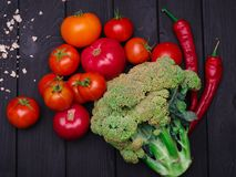 Foto delle verdure appetitose fresche Nutrizione adeguata vegetarianism Fotografie Stock Libere da Diritti