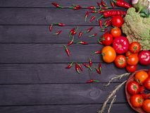Foto delle verdure appetitose fresche Nutrizione adeguata vegetarianism Fotografia Stock Libera da Diritti