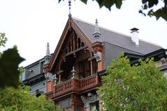 Foto der alten Architektur und der Sonderkommandos von Brüssel builing lizenzfreies stockbild