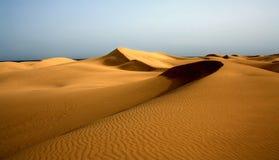 Foto der Dünen von Maspalomas in Playa Del Ingles, Gran Canaria, Spanien stockfotografie
