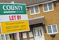 Wohnungsmarkt gelassen vom Brett Stockfoto