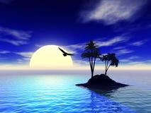 Foto der Insel 3d Stockbild