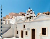 Foto der Kirche in Santorini Lizenzfreie Stockfotos