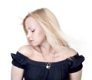 Foto der schönen Frau mit dem ausgezeichneten Haar Lizenzfreie Stockbilder
