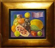 Foto der ursprünglichen Malerei 'Stillleben gehöre ich Samuel Fastlicht 'durch Frida Kahlo stockfotografie
