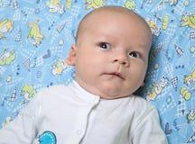 Foto des überraschten alten Jungen des Monats Lizenzfreie Stockbilder