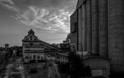 Foto des alten Bahnhofs Stockfotos