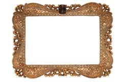 Foto des alten goldenen Rahmens Stockfoto