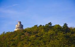 Foto des Ausblickkontrollturms in Hungary.Budapest Stockfoto