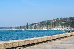 Foto des Dammes in Genf Stockbilder