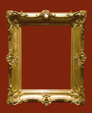 Foto des gealterten goldenen Bilderrahmens Stockbilder