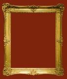 Foto des gealterten goldenen Bilderrahmens Lizenzfreies Stockbild