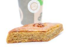 Foto des Kuchens mit coffe Lizenzfreie Stockfotos
