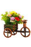 Foto des lokalisierten Fahrradblumenvase Lizenzfreie Stockbilder