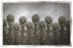 Foto des menschlichen Skeletts in der Weinleseart Stockbilder