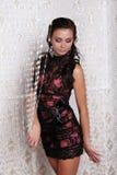 Foto des schönen Mädchens ist in der reizvollen Art, glamur Lizenzfreie Stockfotos