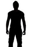 Foto des Schattenbildes des jungen Mannes Lizenzfreie Stockbilder