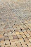 Foto des Standorts eines langen und alten getragenen Pflasterungssla lizenzfreies stockbild