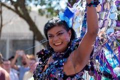 Foto des Teilnehmers am homosexuellen Pride Parade-Ereignis in Cape Town, Südafrika im Jahre 2019 lizenzfreie stockbilder