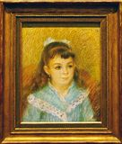 Foto des ursprünglichen Malerei ` Porträts eines junges Mädchen ` durch August Renoir Lizenzfreies Stockbild