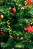 Foto des verzierten Baums des neuen Jahres Lizenzfreie Stockfotos