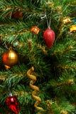 Foto des verzierten Baums des neuen Jahres Stockfotos