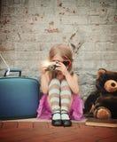 Foto des Weinlese-Kindes Foto machend lizenzfreies stockfoto