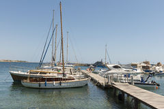 Foto des Yachtjachthafens Paphos zypern Stockfoto