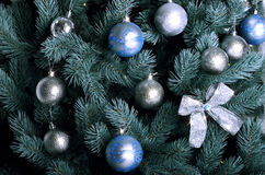 Foto detallada del árbol de navidad Fotos de archivo