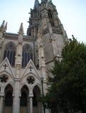 Foto di architettura gotica antica a Bruxelles fotografia stock