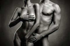 Coppie sensuali nude Fotografia Stock