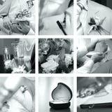 Foto di cerimonia nuziale impostate Fotografia Stock