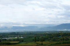 Foto di elevata altitudine da Amphoe Phop Phra, provincia di Tak, Thaila Immagine Stock