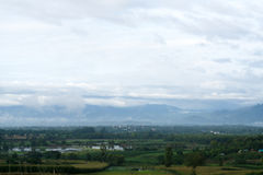 Foto di elevata altitudine da Amphoe Phop Phra, provincia di Tak, Thaila Immagini Stock