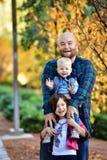 Foto di famiglia di caduta Fotografie Stock