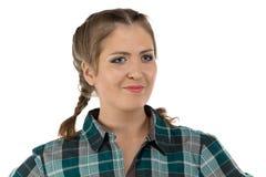 Foto di giovane donna dell'agricoltore Fotografia Stock Libera da Diritti