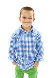 Foto di giovane ragazzo felice adorabile che esamina macchina fotografica Immagine Stock Libera da Diritti
