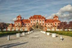 Foto di HDR, palazzo in Troja, repubblica Ceca Fotografia Stock Libera da Diritti