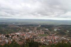 Foto di Kruja dalla collina locale Immagine Stock Libera da Diritti