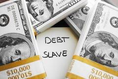 Foto di Loan Debt Stock dello studente di college Fotografia Stock