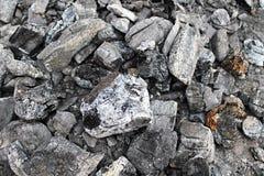 Foto di macro del carbone Fotografia Stock Libera da Diritti