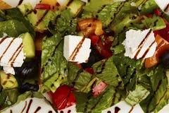 Foto di macro del primo piano dell'insalata della verdura fresca Immagine Stock