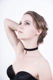 Foto di modello dei cosmetici con il chiaro fronte Immagini Stock