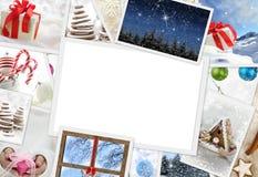 Foto di Natale con lo spazio della copia Fotografia Stock