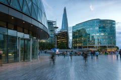 Foto di notte del comune ed il coccio a Londra, Inghilterra, Regno Unito Fotografia Stock Libera da Diritti