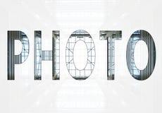 Foto di parola Fotografia Stock