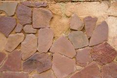 Foto di pietre rotte di struttura della parete Fotografia Stock